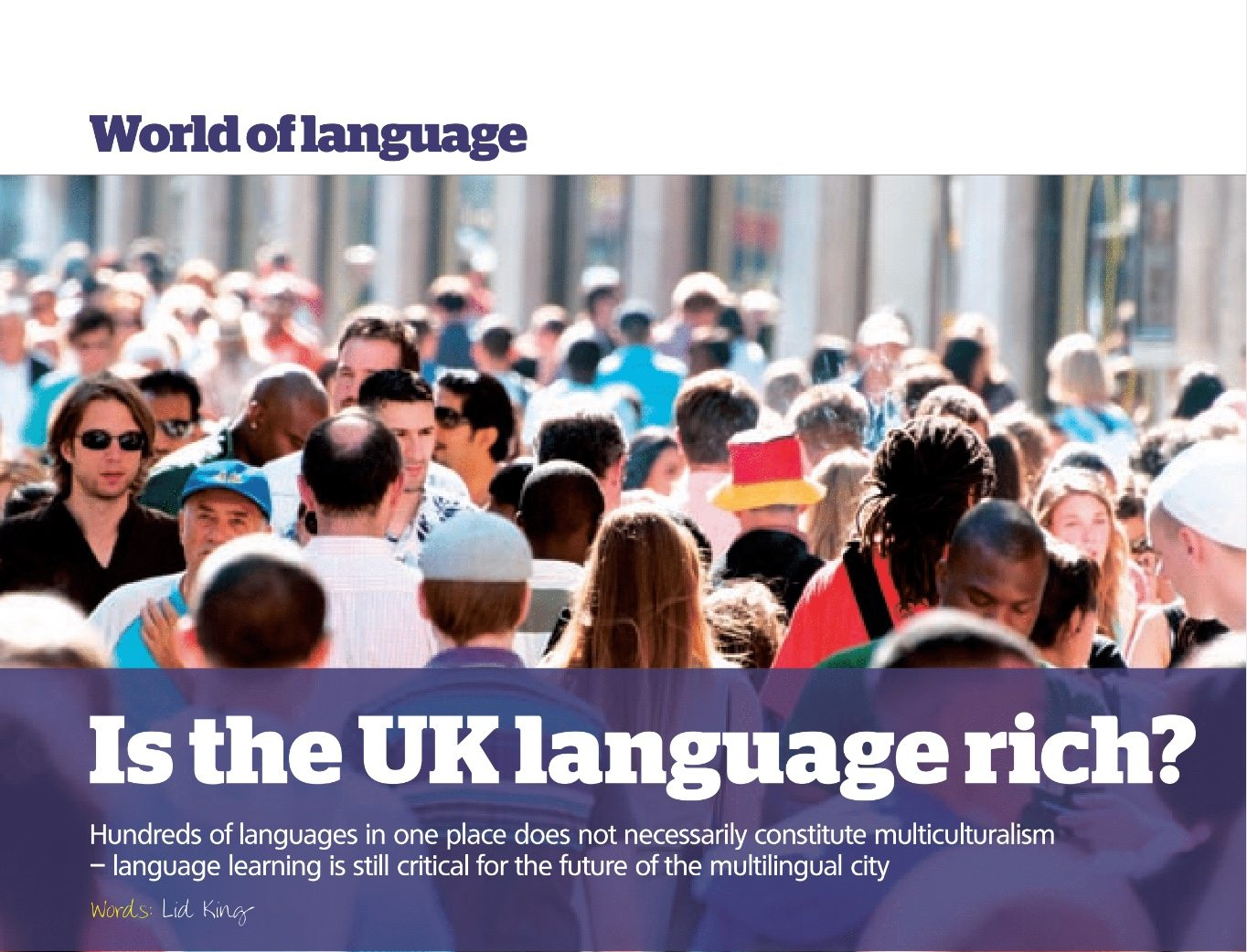 Is the UK Language Rich?