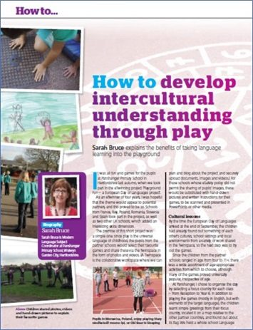 How to… develop intercultural understanding through play.