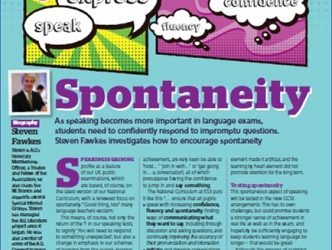 How to… encourage spontaneity in the languages classroom