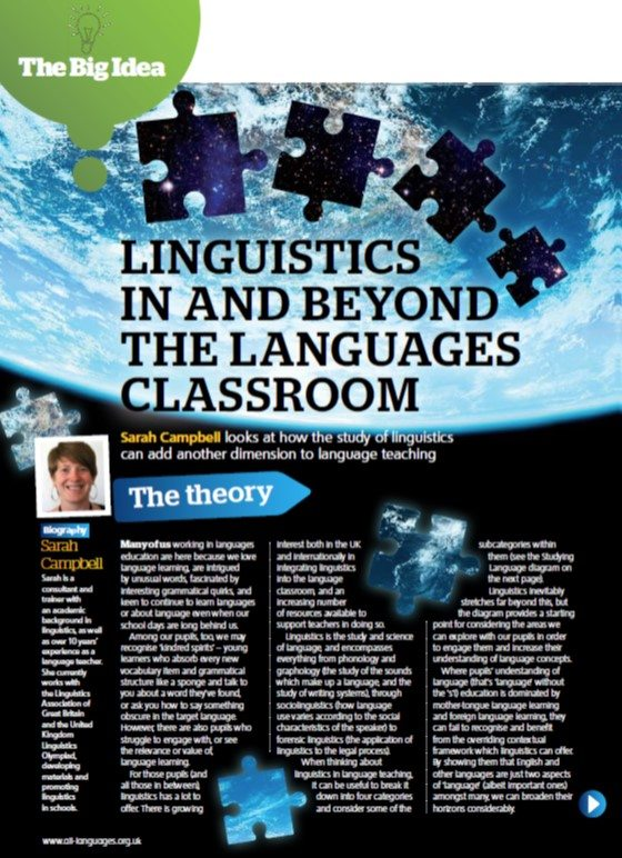 Linguistics in and beyond the languages classroom