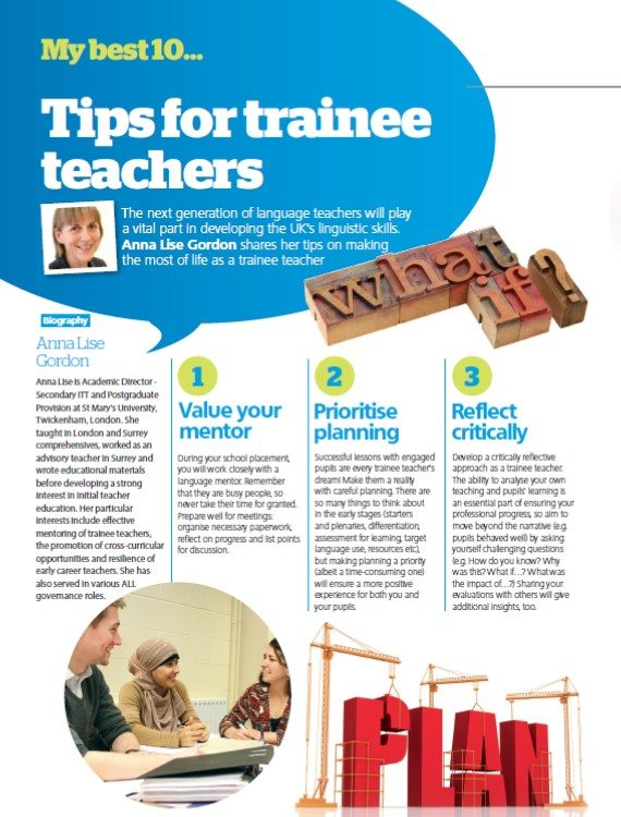 My best 10… tips for trainee teachers