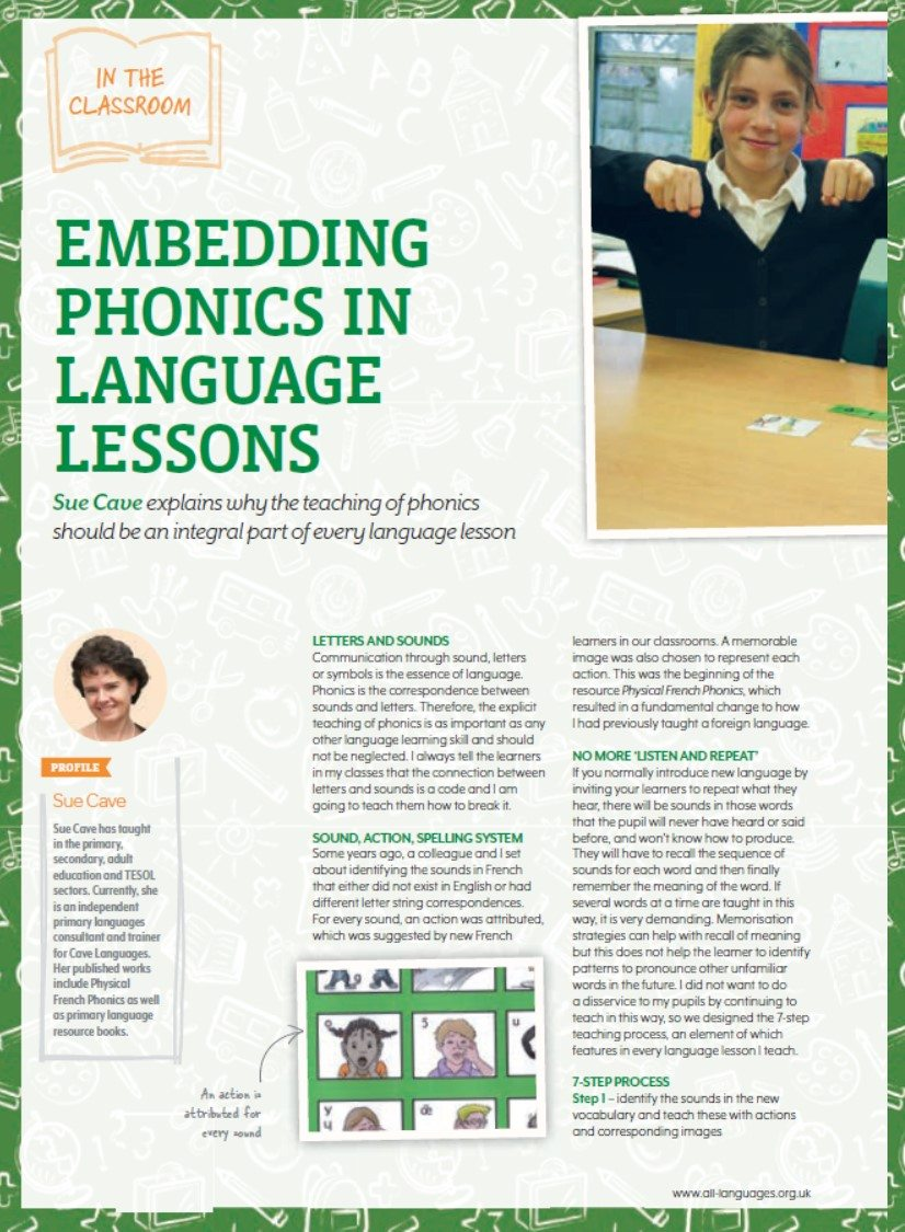 Embedding Phonics in Language Lessons