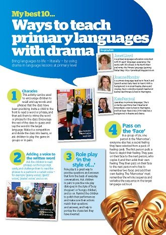My best 10… ways to teach primary languages with drama.