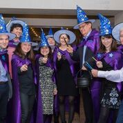 TLM project team in wizard costumes at the launch