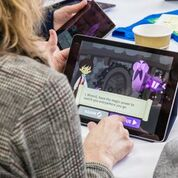 teachers trying TLM on tablets
