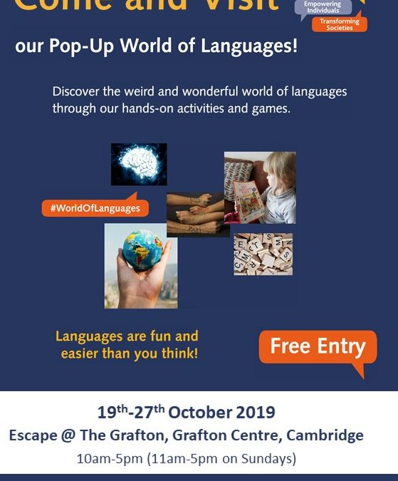 Pop-Up World of Languages – the first UK pop-up museum of languages!